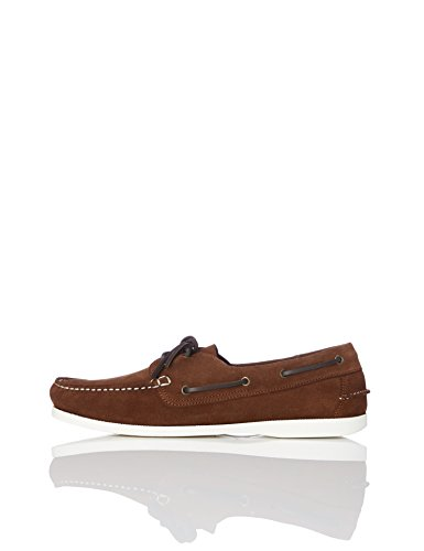 Barca Da Pelle dark Scarpe Find Brown In Marrone Uomo 5zIEwq0