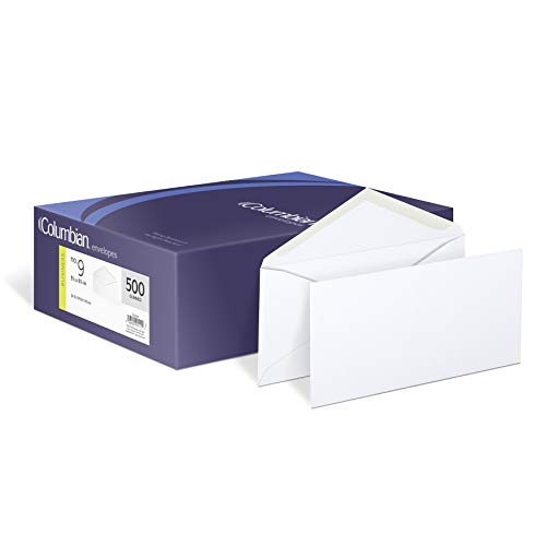 No Commercial 10 Flap - Columbian CO115  3-7/8x8-7/8-Inch White Envelopes, 500 Count (CO115)