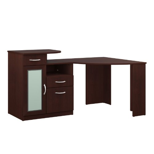 042976666156 - Bush Furniture Vantage Corner Desk, Harvest Cherry carousel main 3
