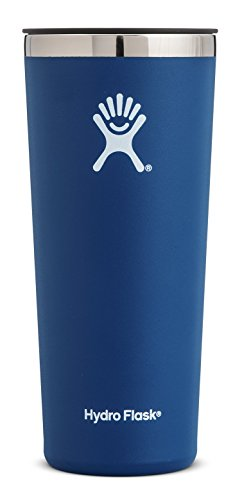 Hydro Flask 22 oz Tumbler Cup | Stainless Steel & Vacuum Insulated | Press-In Lid | Cobalt (16 Oz Hydro Flask)