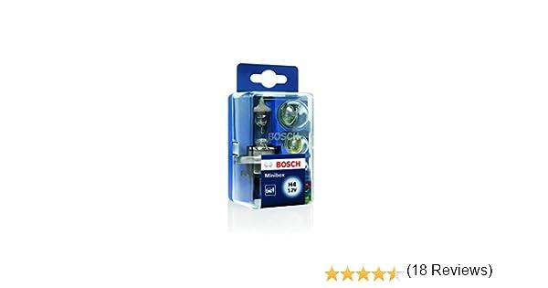 Estuche de lámparas de repuesto Bosch Minibox H4 12V: Amazon.es: Coche y moto