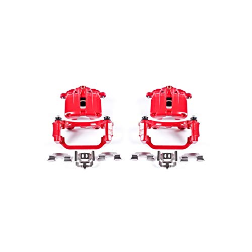Power Stop S4726 Performance Powder Coated Brake Caliper Set For Chevy, Cadillac, GMC