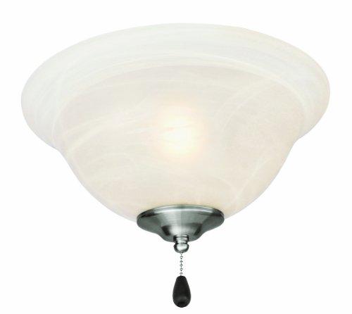 Design House 154203 3 Light Ceiling Fan Light, Satin Nickel