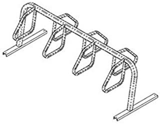 product image for City Bicycle Rack, Double Sided, Flange Mount, 7-Bike