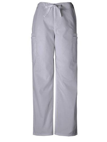 Cherokee Workwear Men's 4000 Drawstring Cargo Scrub Pant- Grey- Large Tall