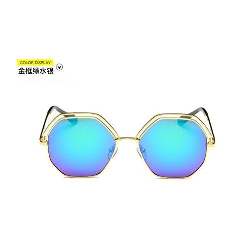 Sucastle Hollow grand double cercle lunettes de soleil mode dames lunettes de soleil lunettes de soleil Metal PC QWERT
