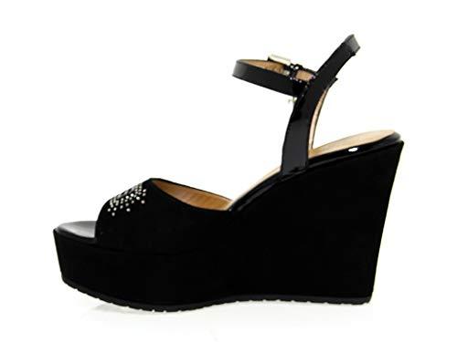 Cesare Paciotti Negro 4ussd30 Mujer Cuña De Gamuza 4us Zapatos APBfqxI