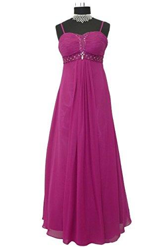 Bodenlanges Lautinel Chiffon Burgund Abendkleid Gr Farben Träger Ballkleid 34 mit Romina 50 vers 6ddqrw