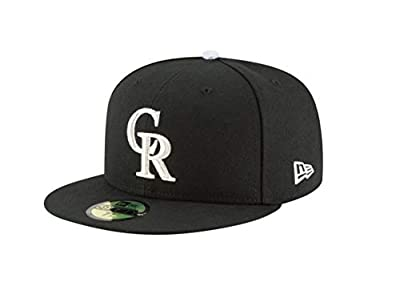 New Era 59Fifty Hat Colorado Rockies Authentic Alternate Black Fitted Cap