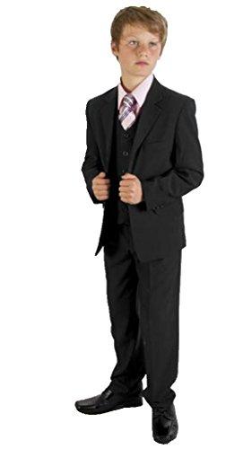 MLT Boy's Black Party Prom Wedding Suit Set (L) by MLT