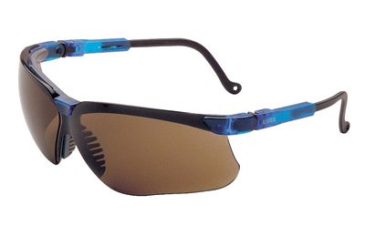 Uvex By Honeywell Genesis Safety Glasses With Vapor Blue Polycarbonate Frame And Espresso Polycarbonate Uvextreme Anti-Fog Lens