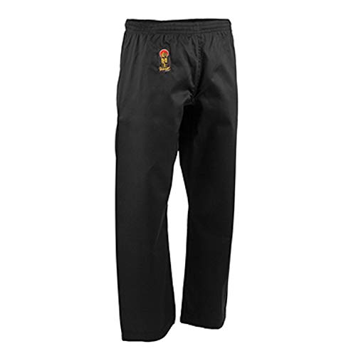 ProForce Gladiator 6oz Karate Pants w/Elastic Waist - Black - Size 3