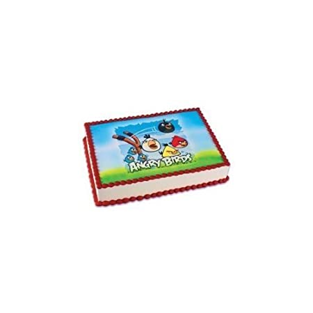 Amazoncom 1 X Angry Birds Edible Image Cake Topper Kitchen Dining
