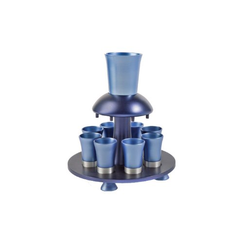 Yair Emanuel Anodized Aluminum Kiddush Fountain with Shades of Blue