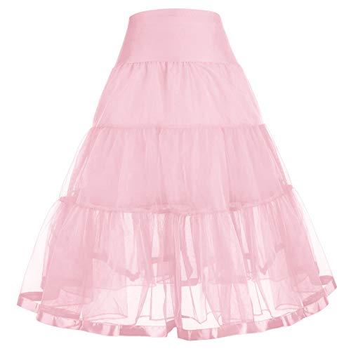 GRACE KARIN Baby Girls Solid Dance Swing Tutu Petticoat 6-7Y CL036-6