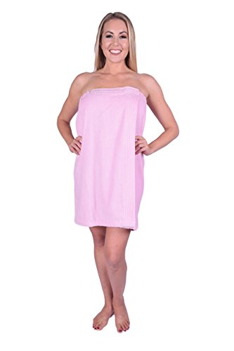 California Towel Women's Spa Bath Shower Wrap for College Dorms, Pools, Gyms, Beaches, Locker Rooms, Bathroom, Made in Turkey (Light Pink) by California Towel (Image #7)