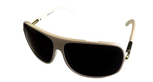 Levi Sunglass Plastic Unisex White Modified Rectangle, Solid Smoke Lens 172 2 (Levi's Eyewear)