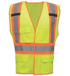 2XL/3XL HV212 Hi-Vis Lime/Orange Hook & Loop Mesh ANSI Type R Class 2 Body GuardTwo-Tone Breakaway Safety Vest