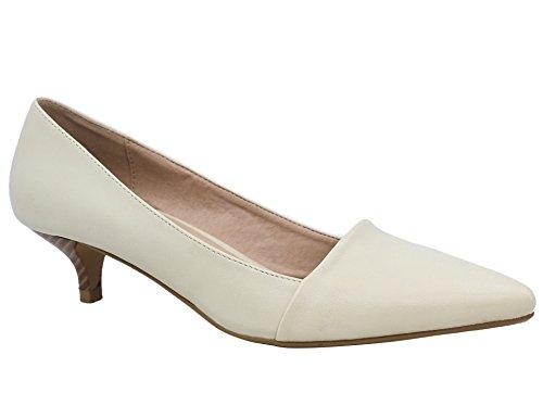 Kitten Greatonu Heels Dress Women White Pointed Classic Pumps Shoes Toe grntx4nw