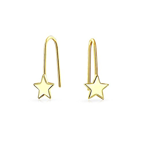 Bling Jewelry 14K Gold Star Ear Chic simplemente Aretes Pin