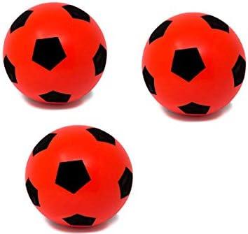 E-Deals - Juego de Tres Pelotas de fútbol de Espuma Suave de 20 cm ...
