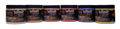 Speedball Stoneware Glaze (Speedball 002056 Stoneware School Pack Glaze, 6-Pack, 16 oz, Multicolor)