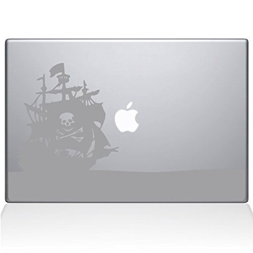 Pirate Bay Macbook Decal, Silver, Die Cut Vinyl Decal For Windows, Cars, Trucks, Tool Box, Laptops, Macbook- Virtually Any Hard, Smooth Surface