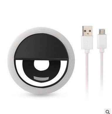 GerTong Clip on Selfie Ring Light LED for Smart Phone Camera Round Shape for Smartphone Camera Round, Tablet, Laptop Camera,Photography Video Lighting Clip On Rechargeable