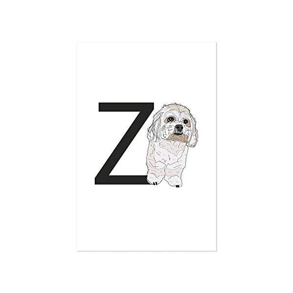 "Noir Gallery Dog Zuchon Illustration 11"" x 14"" Unframed Art Print/Poster 1"