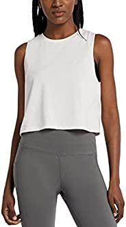 BALEAF Women's Workout Crop Tank Cropped Muscle Tops Cute Quick Dry Gym Yoga Sh