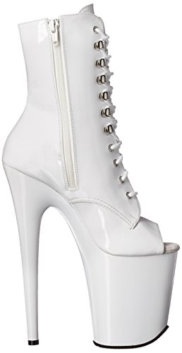 white patent m w Flam1021 white Ankle Women's Bootie Pleaser F0YqRwA