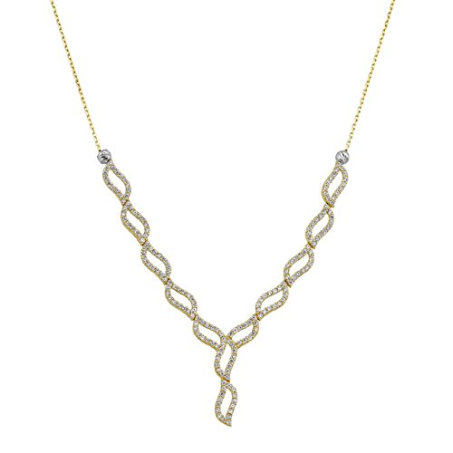 starjewel or collier fantaisie forme 585or 45cm