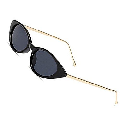 - Vintage Cat Eye Sunglasses Women Small Size UV400 Glasses By Long Keeper (Black)
