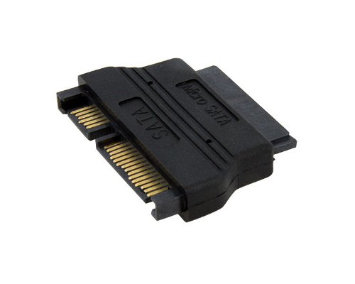 Micro SATA to SATA Adapter Cable with Power - 1.8 SSD Cable - Micro SATA Adapter - Micro SATA to SATA