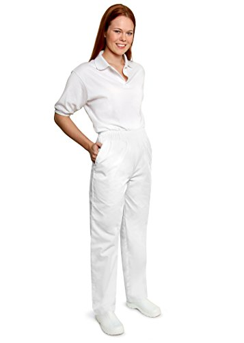 Adar Universal Classic Comfort Natural-Rise Tapered Leg Pants Petite - 502P - White - L