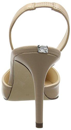 Guess Byron - Zapatos de vestir de Piel para mujer Bianco Sporco (Light Natural)
