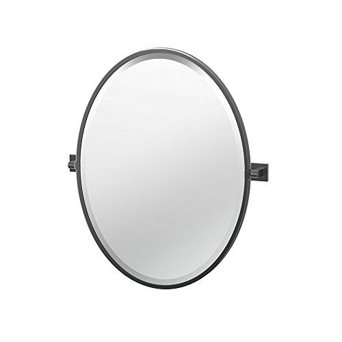 Gatco 4059MXF Elevate Framed Oval Mirror, Matte Black, -
