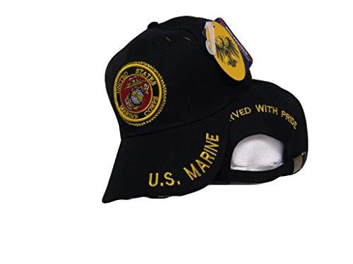 Black USMC Marines Marine Served with Pride Retired Hat Ball Cap (RUF)