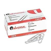 Clips de papel universales, lisos, tamaño n. ° 1, plateado, 100 /BX, 10 cajas /paquete (UNV72210)