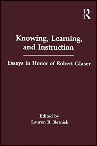 Knowing Learning And Instruction Essays In Honor Of Robert Glaser