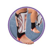 Mueller Soccer Shin Guards with detachable ankle socks - You