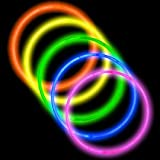 "Toys : 50 22"" Premium Glow Stick Necklaces Assorted Colors Glowsticks"