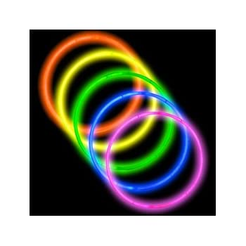 "50 22"" Premium Glow Stick Necklaces Assorted Colors Glowsticks"