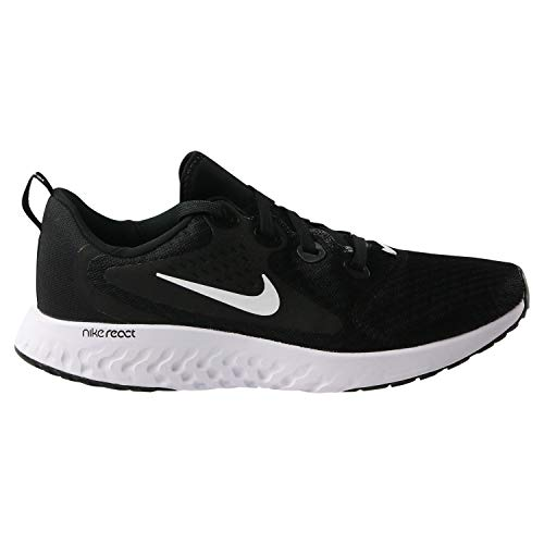 Nike Kids' Grade School Legend React Running Shoes (5.5, Black)