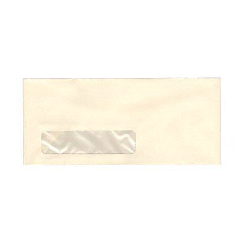 JAM Paper #10 Business Envelopes - 4 1/8 x 9 1/2'' - Strathmore Ivory Wove - 1000/carton by JAM Paper (Image #1)