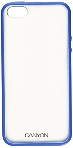 Canyon en TPU + PC Coque avec stylet et film protecteur d'écran pour iPhone 5–Bleu