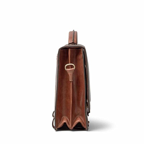 Maxwell Scott Personalized Luxury Tan Mens Leather Satchels (The Battista) - One Size by Maxwell Scott Bags (Image #3)