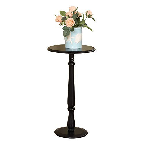 NITCHA14 Pilaster Designs - Plant Stand Accent Side Round Table, Black Finish Storage Furniture Home ()