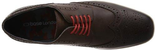 Base London Shore - Zapatos de Cordones de cuero hombre marrón - Marron (201 Pull Up Brown)