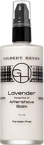 Natural Lavender Aftershave Balm with Aromatherapy Grade Lavender, by Gilbert Henry. Paraben-free and No Synthetics. Non-greasy, Ultra Soothing Formula. Made in the U.S.A. 4 fl oz.